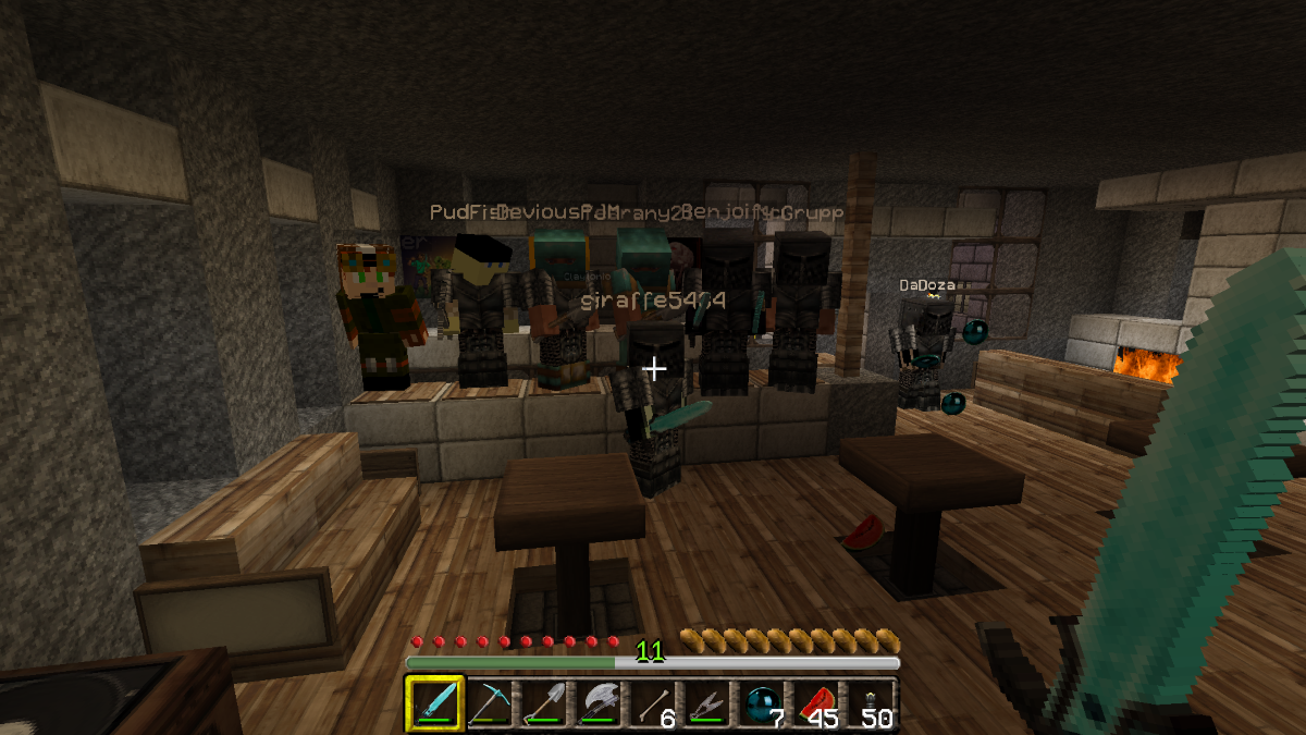 minecraft how to make a bar